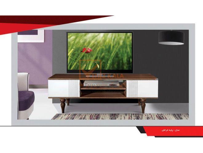 میز تلویزیون مدل پایه خراطی