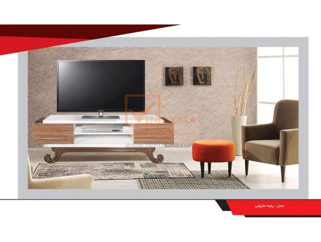 میز تلویزیون مدل پایه حلزونی