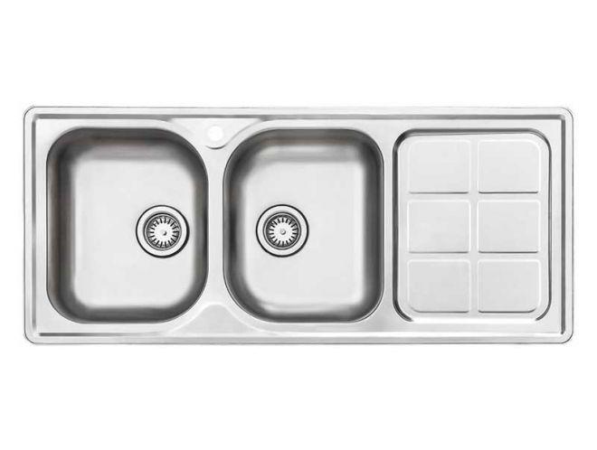 سینک ظرفشویی استیل البرز کد 215/60