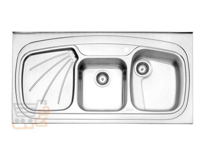 سینک ظرفشویی استیل البرز کد 614/60