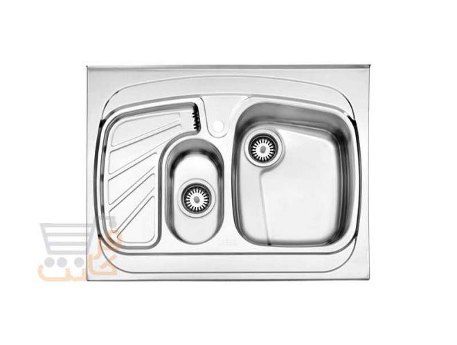سینک ظرفشویی استیل البرز کد 608/60