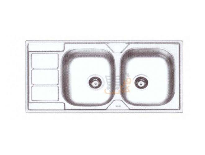 سینک ظرفشویی ایلیا استیل کد 4051