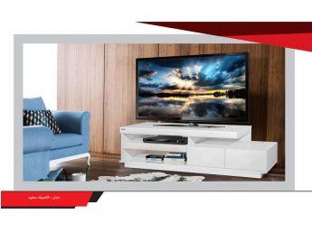 میز تلویزیون مدل کلاسیک سفید