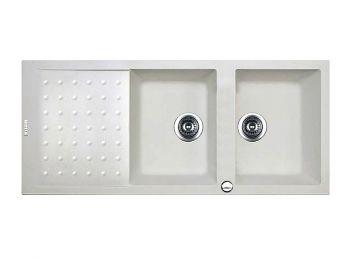 سینک ظرفشویی گرانیتی کن مدل پلو سفید